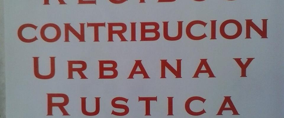 Recibos de contribución urbana y rústica