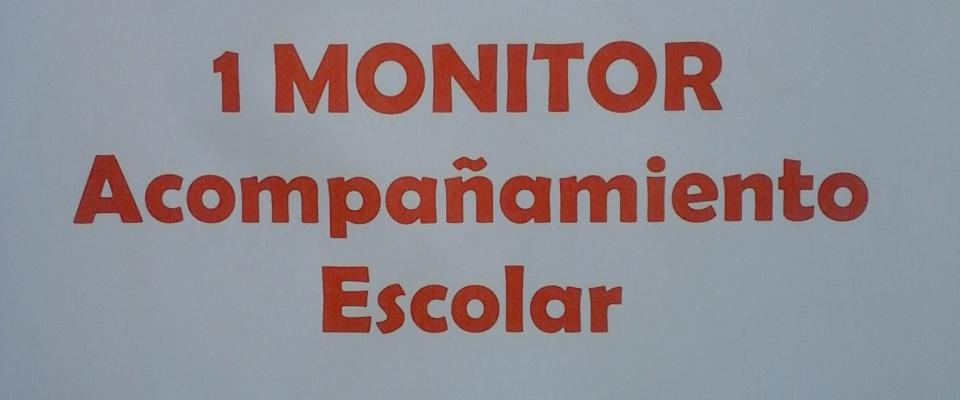 Bases de la convocatoria para monitor de acompañamiento escolar