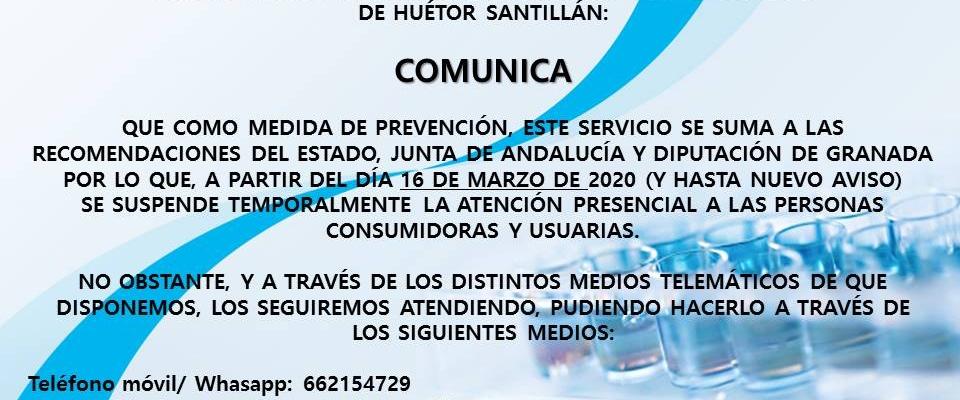 Atención telemática y nuevo horario de la PIC de Huetor Santillán
