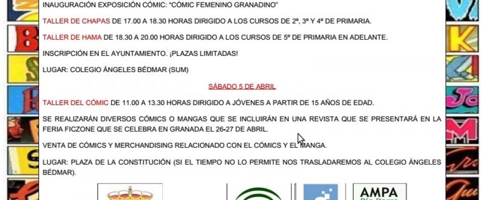 Días del Cómic en Huétor de Santillán (viernes 4 y sábado 5 de abril)