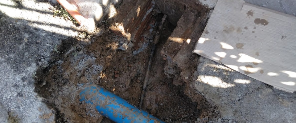 Reparación de averías en las tuberías de agua potable