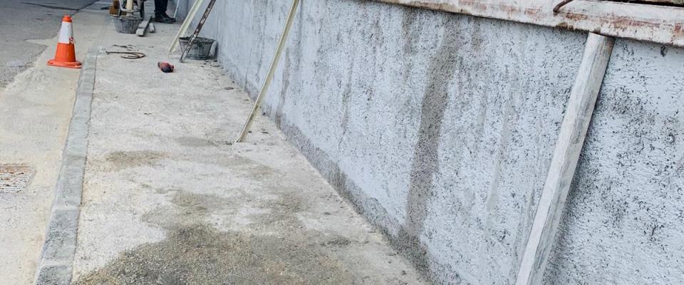 Construcción de un muro de contención en Avenida del Puente Nuevo