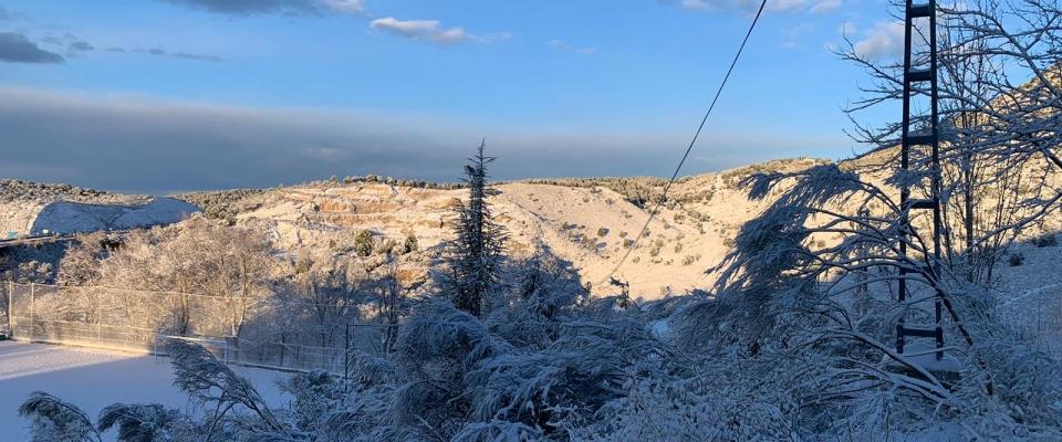 Fotografías de la nevada en Huétor Santillán