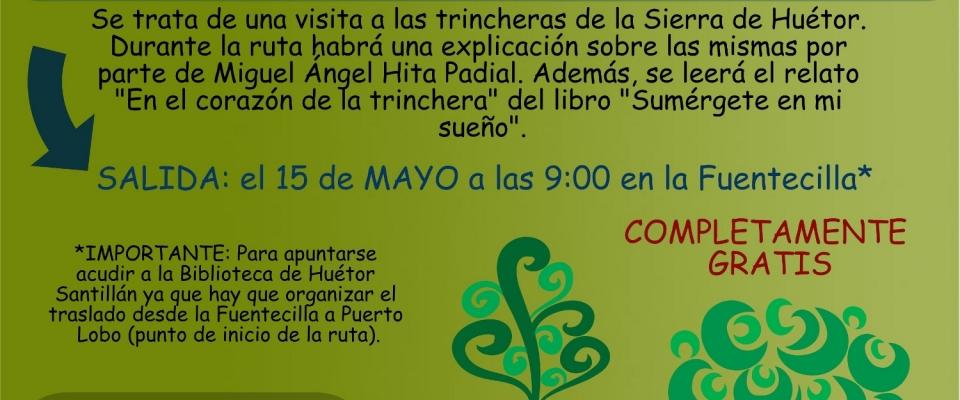 """Ruta senderista sobre las trincheras """"Palabras andadas"""" (15 mayo)"""