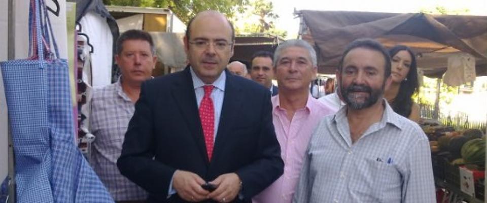 El Presidente de Diputación visita Huétor Santillán