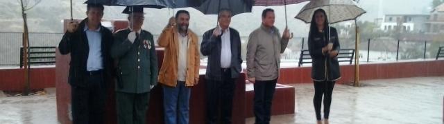 Día del Pilar e inauguración de la Plaza del Portillo pasados por agua