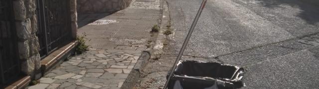Limpieza de calles en la zona de la Casería