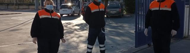 Nuevamente Protección Civil de Huétor Santillán dando apoyo a los sanitarios en la ITV