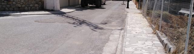 Limpieza de calles en Huétor Santillán (zona de la Casería)