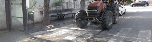 Se retoman las labores de desinfección de Huétor Santillán