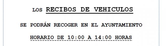El Ayuntamiento informa: recibo de vehículos