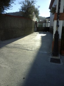 Cementado calles