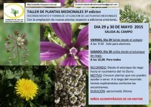 Taller plantas medicinales huetor santillan