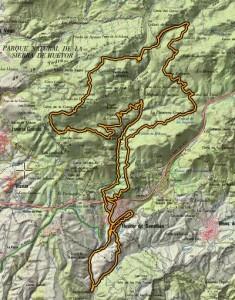 duatlon h.santillan mapa recorrido